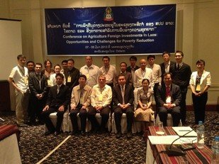International Conference on Sustainable Agribusiness Foreign Investments in Laos